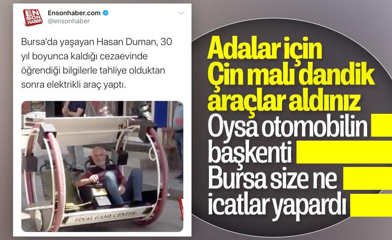 Bursa'da elektrikli araç yaptı, sipariş yağıyor