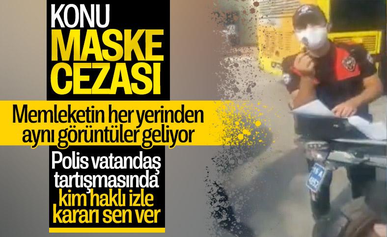 Bursa'da polis ile vatandaş arasında maske tartışması