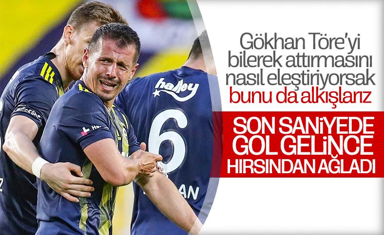 Emre Belözoğlu, galibiyetin ardından ağladı