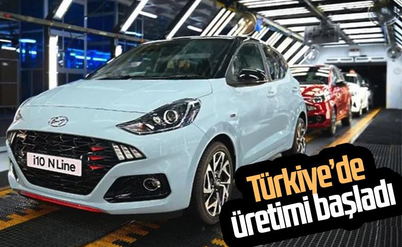 Hyundai i10 N Line Türkiye'de üretim bandına girdi