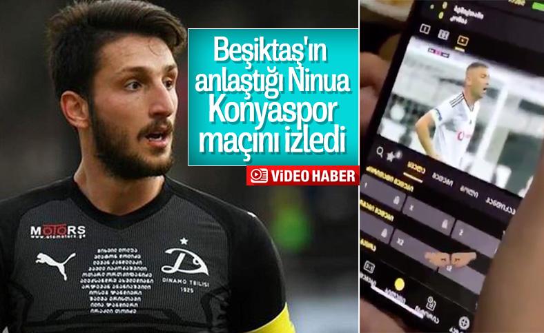 Nika Ninua, Beşiktaş maçını izledi