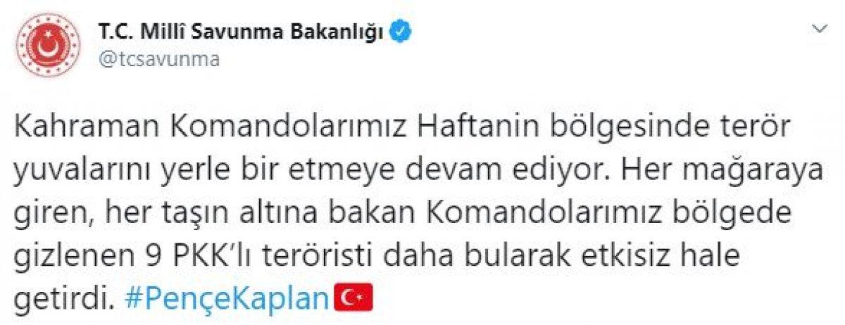 Pençe-Kaplan Operasyonu'nda 9 terörist öldürüldü #3