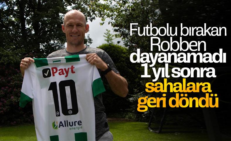 Robben, futbola geri döndü