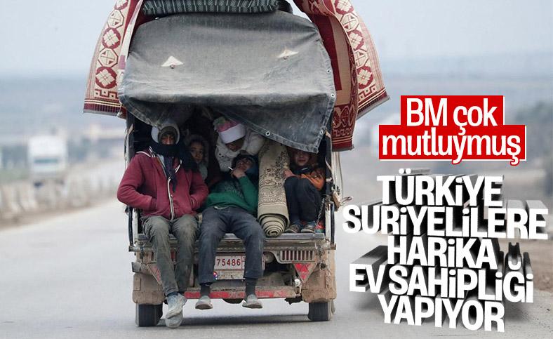 BM'den Türkiye'ye Suriye övgüsü