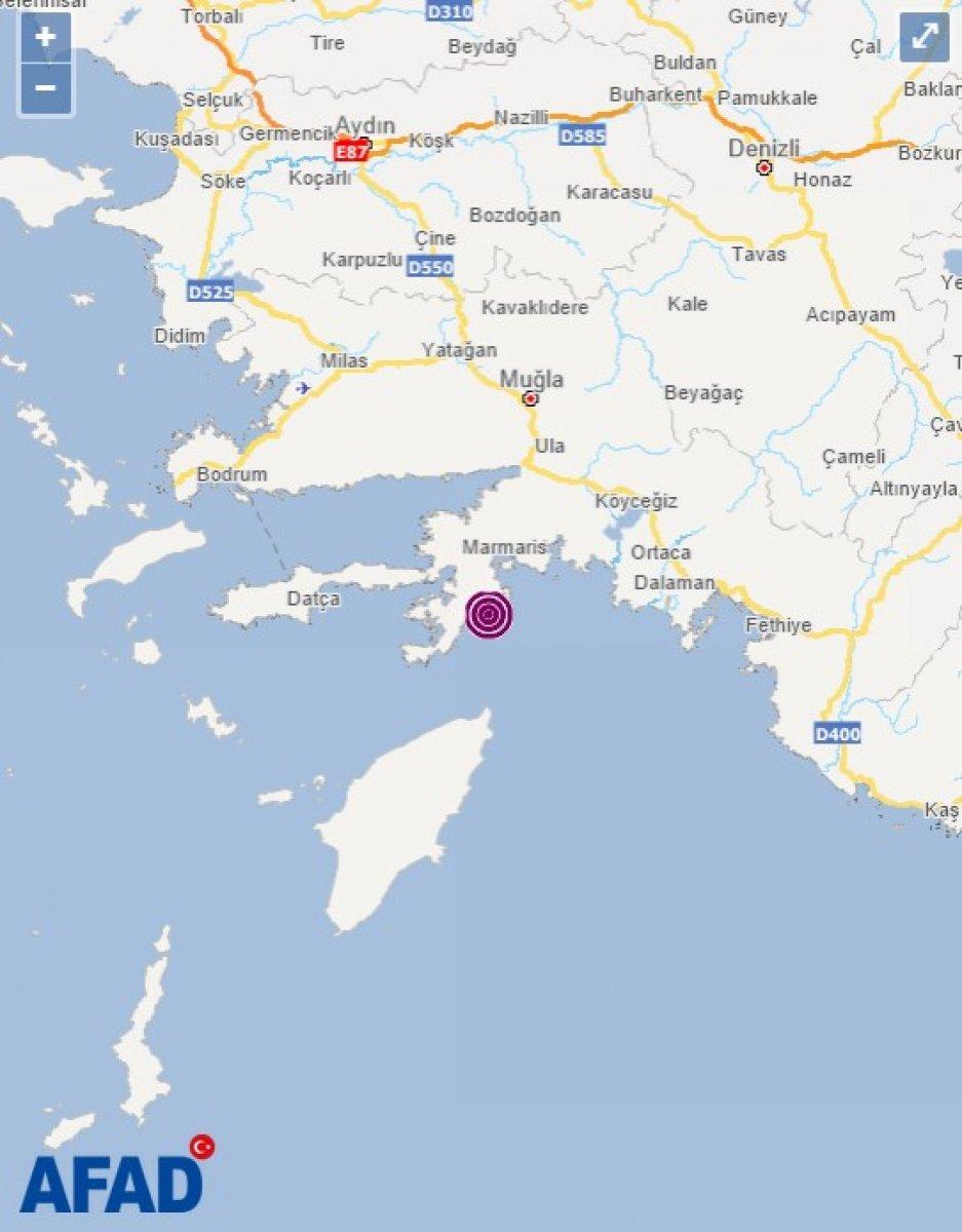 Muğla'da 5.2 büyüklüğünde deprem #2