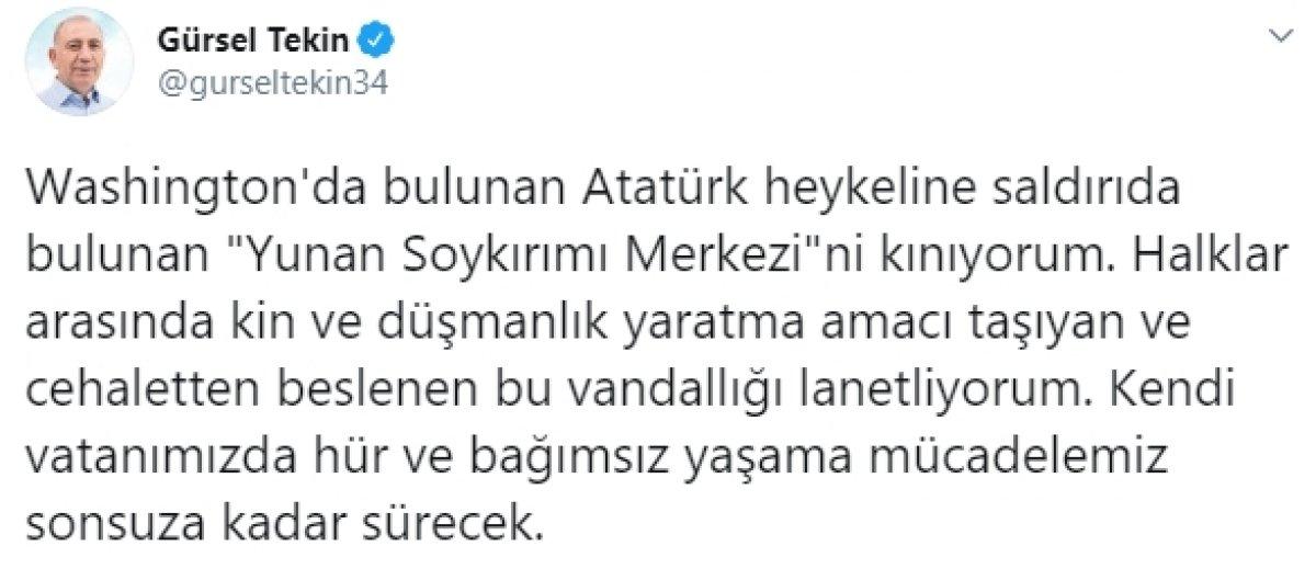 ABD'de Atatürk heykeline saldırı #3
