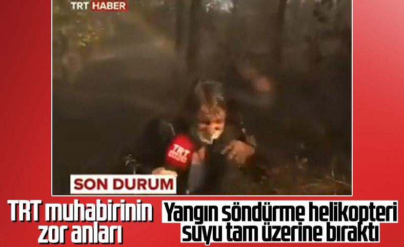 TRT muhabirinin zor anları