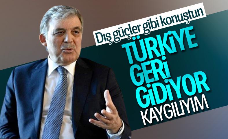 Abdullah Gül, Türkiye'nin durumundan kaygılı