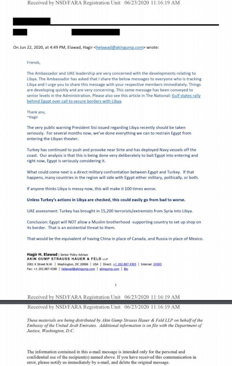 BAE, Libya'da Türkiye'ye karşı lobicilik yapıyor #3