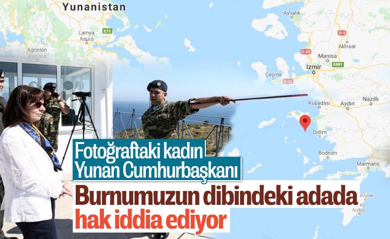 Yunan Cumhurbaşkanı Sakellaropulu, Eşek Adası'na gitti
