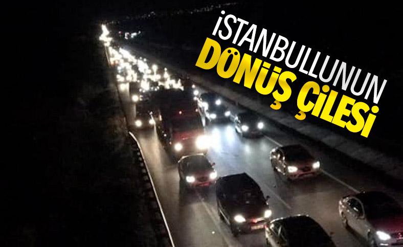 İstanbulluların dönüş çilesi gece de sürdü
