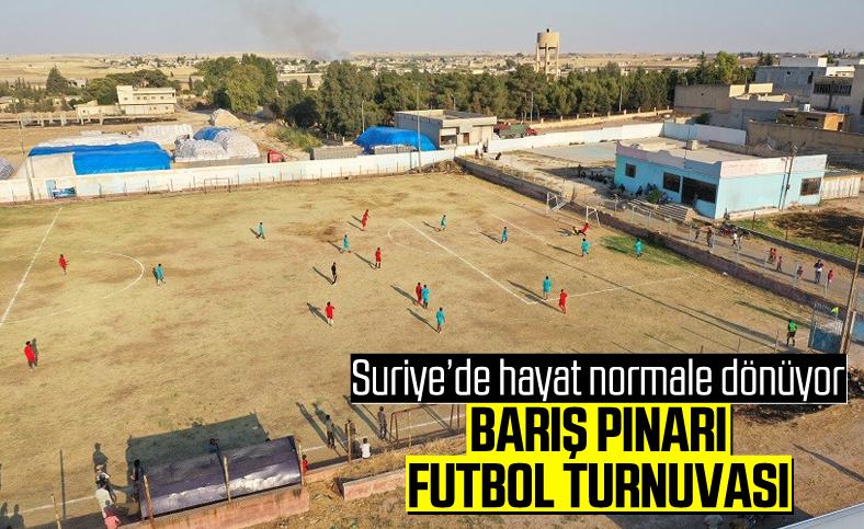 Suriye'de Barış Pınarı Futbol Turnuvası devam ediyor
