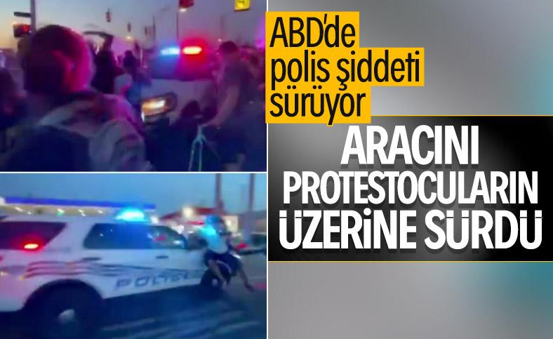 ABD'de polis göstericilerin üzerine aracı sürdü