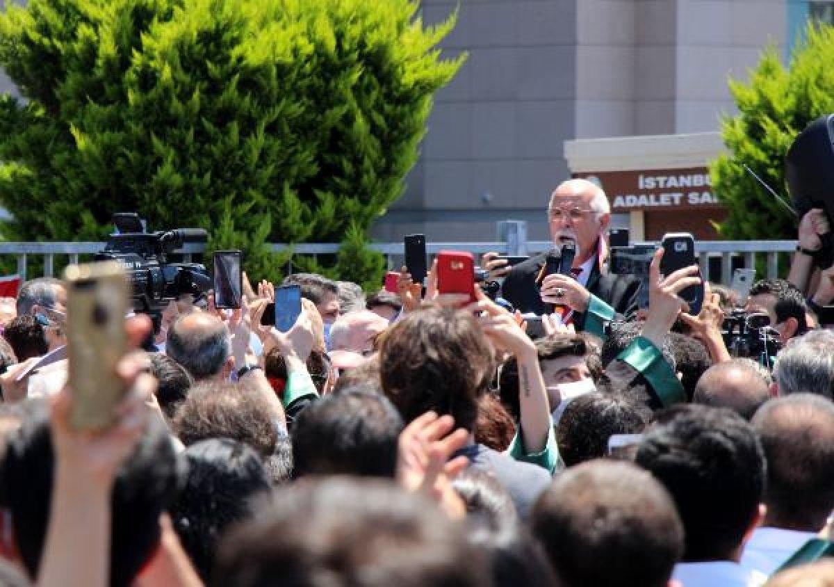 İstanbul Adalet Sarayı önünde avukatların eylemi #4