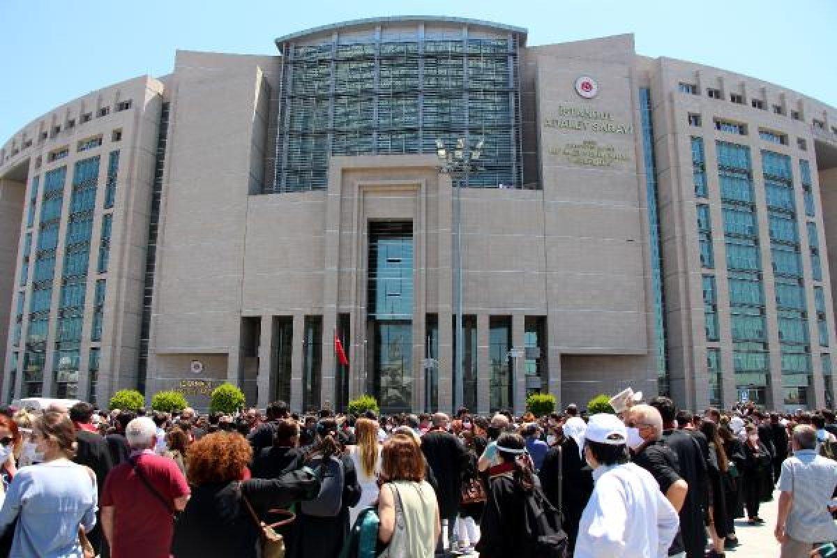 İstanbul Adalet Sarayı önünde avukatların eylemi #2