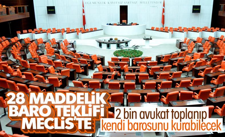 Baro düzenlemesi Meclis'e sunuldu