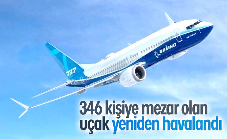 Sorunlu Boeing 737 Max test uçuşunu tamamladı