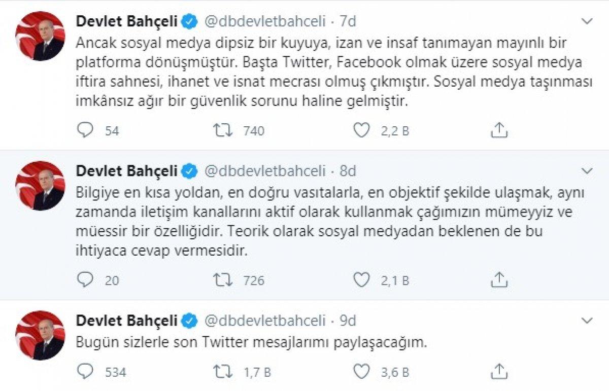 Devlet Bahçeli son kez 'tweet' attı #3