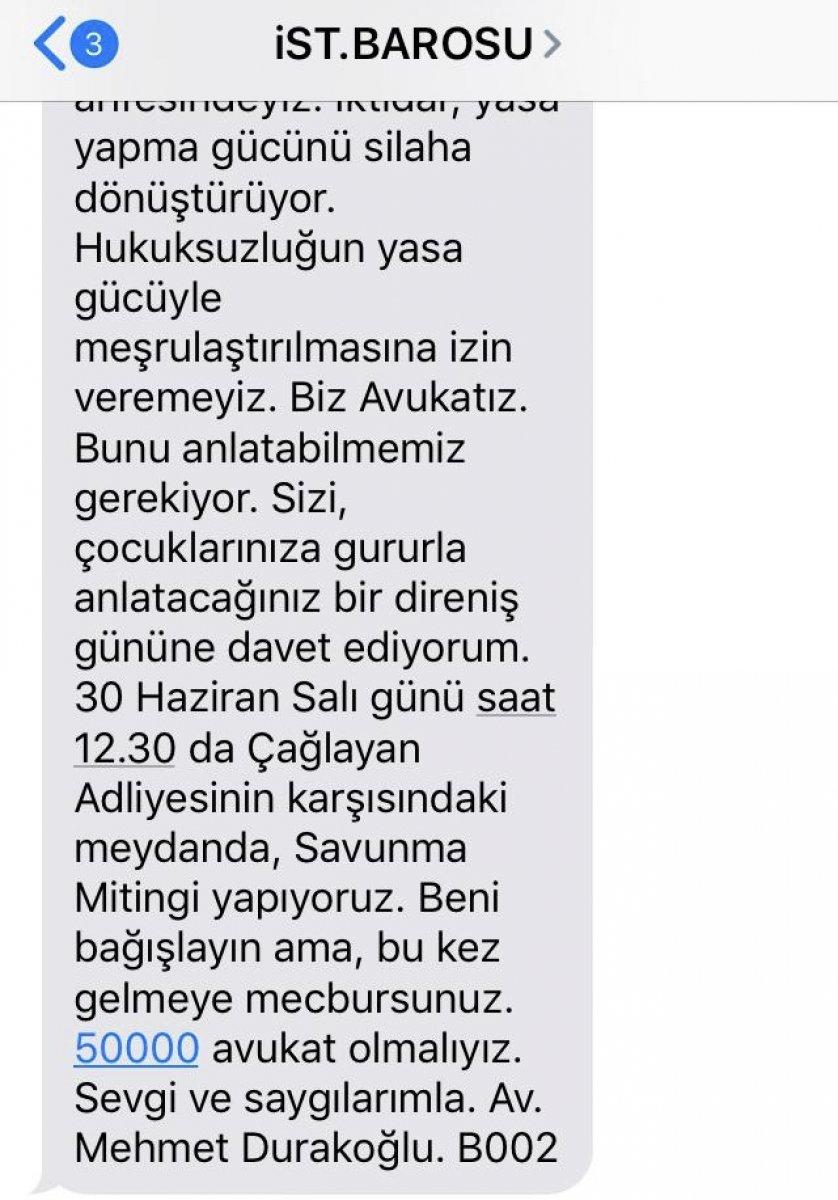 İstanbul Barosu avukatları eyleme çağırdı #2