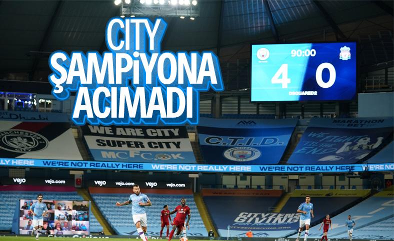 Manchester City şampiyon Liverpool'u 4-0 yendi