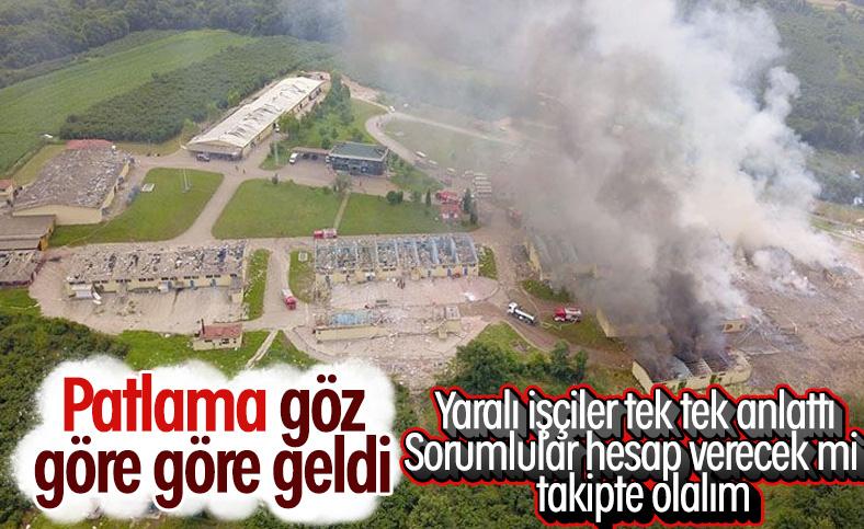 Sakarya'da patlamadan kurtulan işçiler 'ihmal var' dedi