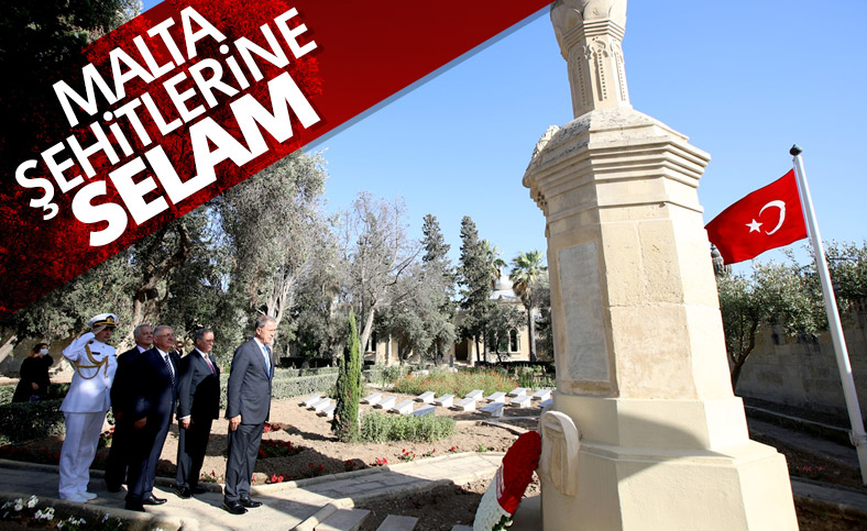 Hulusi Akar, Malta'daki Türk Şehitliği'ni ziyaret etti
