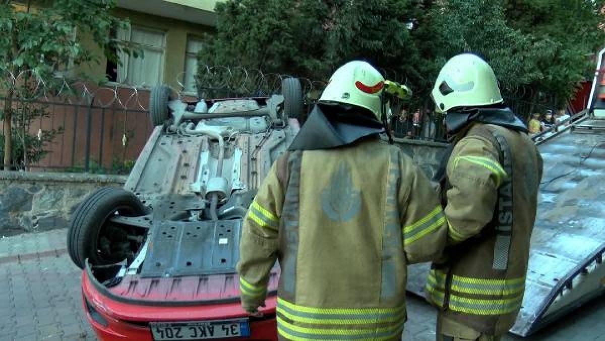 Sultangazi'de aracın üstüne çıkan otomobil kamerada #6