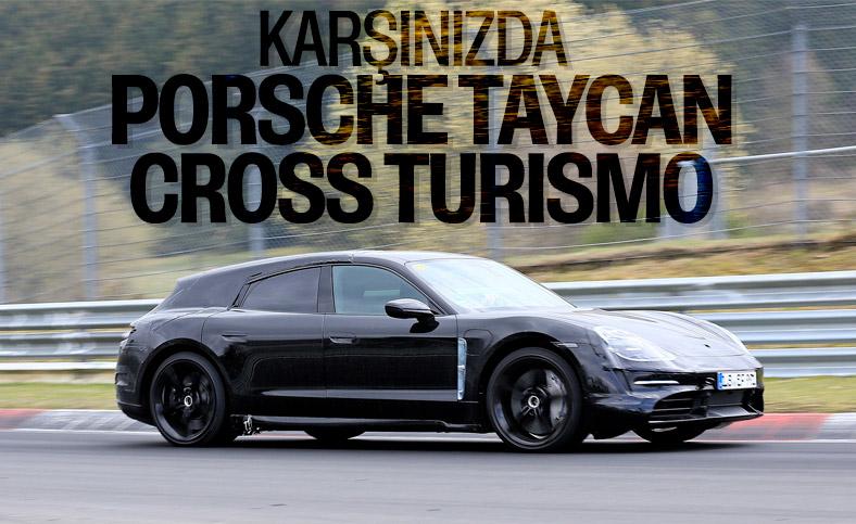 Porsche Taycan Cross Turismo'dan yeni görüntüler