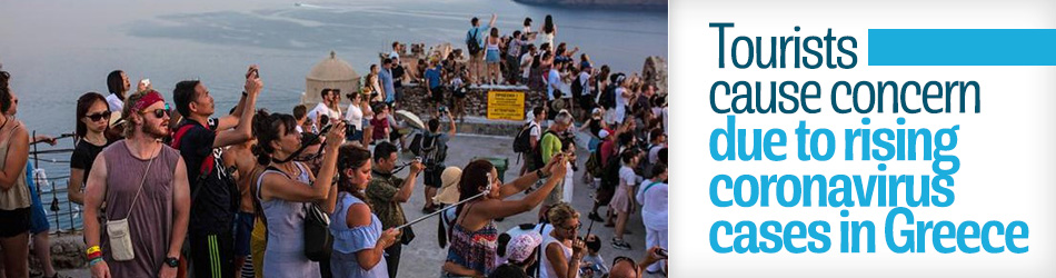 Greece sees rise on virus cases as tourists allowed entry to country