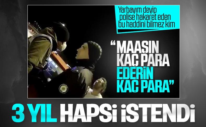 Bursa'da polise hakaret eden yarbay için ceza istendi