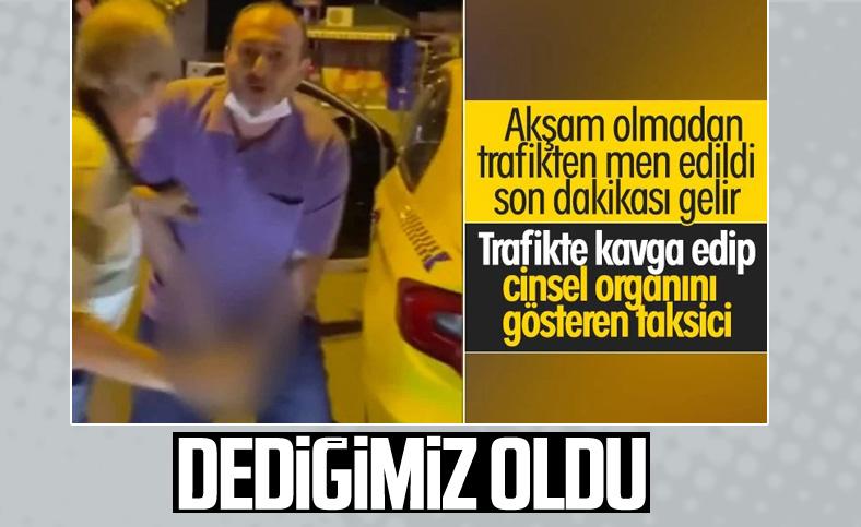 İstanbul'un göbeğinde taksici rezaleti böyle görüntülendi