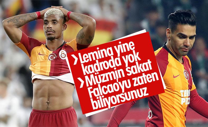 Lemina ve Falcao, Ankaragücü maçında yok