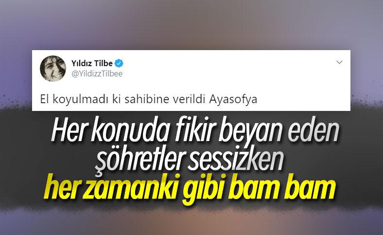 Yıldız Tilbe'den art arda Ayasofya tweet'leri
