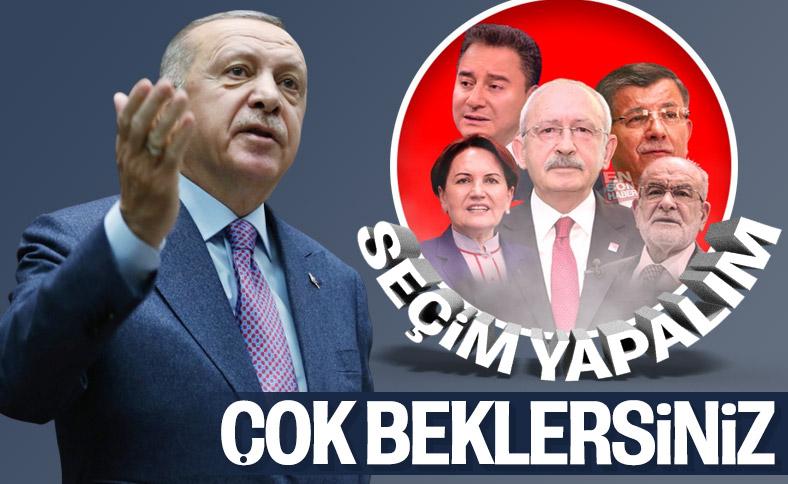 Erdoğan, erken seçim tartışmasına noktayı koydu