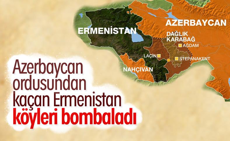 Ermenistan ordusu sivil yerleşim birimlerini vurdu