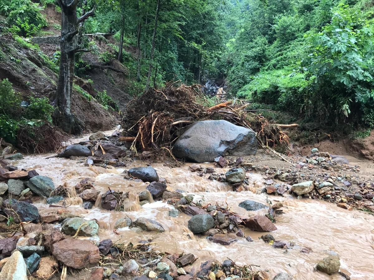 Rize'deki yağışlarda son 91 yılın rekoru kırıldı #6