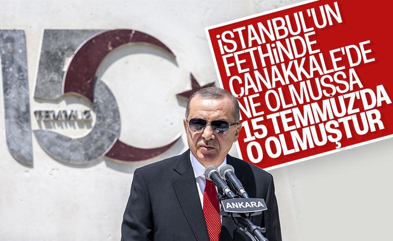 Erdoğan, 15 Temmuz Anıtı'ndaki törende konuştu