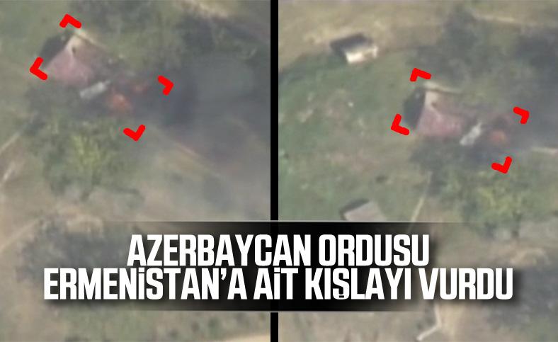 Azerbaycan, Ermenistan'a ait kışlayı vurdu