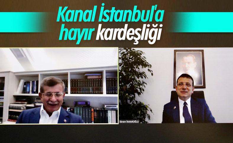 Davutoğlu ile İmamoğlu Kanal İstanbul'a karşı birleşti