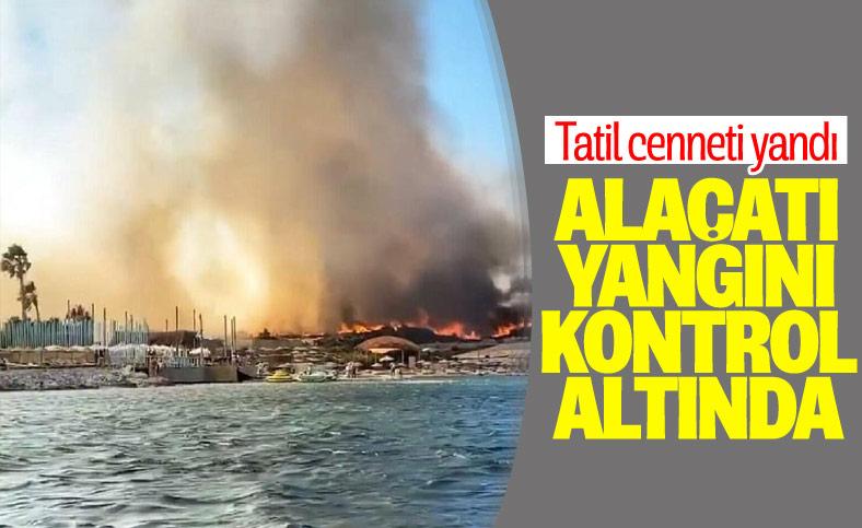 Alaçatı'daki orman yangını kontrol altına alındı