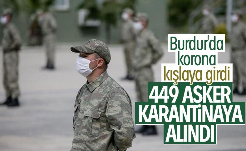 Burdur'da karantinaya alınan asker sayısı yükseldi
