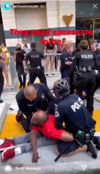 ABD polisi bu kez engelli siyahiyi darbetti #2