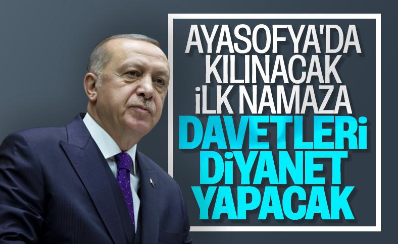 Erdoğan: Ayasofya'ya davetleri Diyanet yapacak