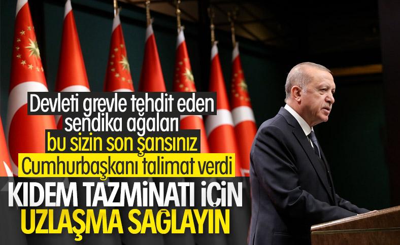 Kıdem reformu çalışmasına Cumhurbaşkanı Erdoğan etkisi