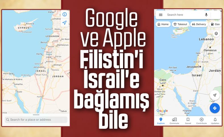 Google ve Apple Filistin'i haritadan sildi