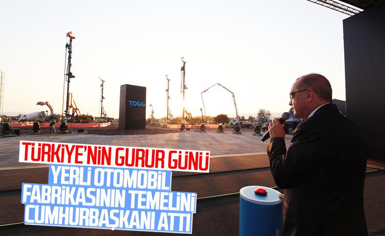 Erdoğan, yerli otomobil fabrikasının temelini attı