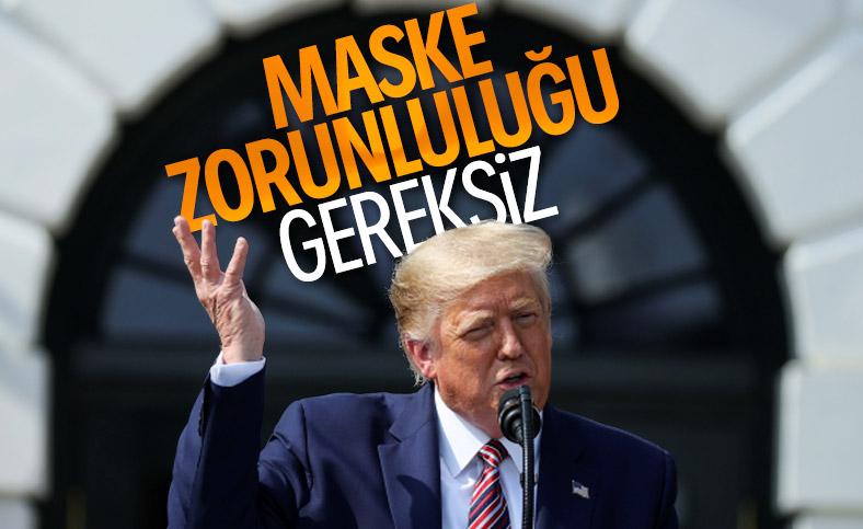 Trump: Ulusal çapta maske zorunluluğu gereksiz