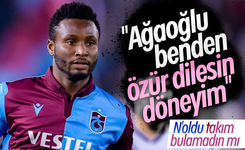 Obi Mikel, Trabzonspor'a geri dönmek istiyor