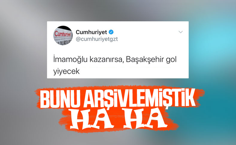 Cumhuriyet'in Başakşehir tweet'i paylaşılıyor