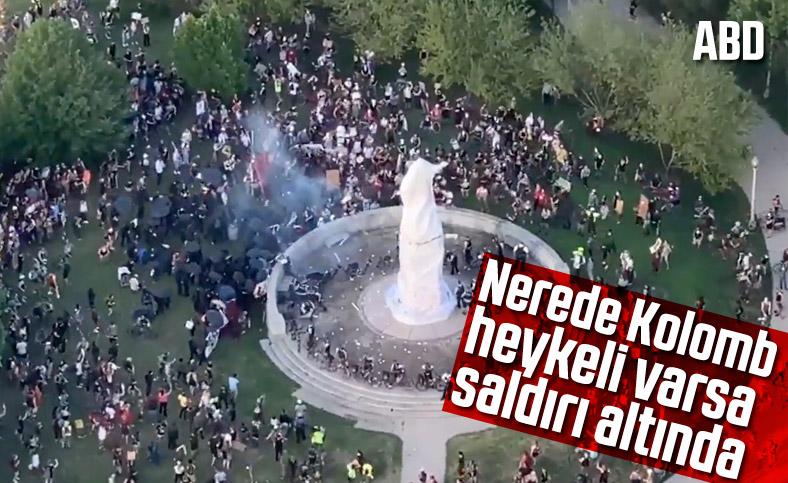ABD'de Kristof Kolomb heykellerine saldırılar sürüyor